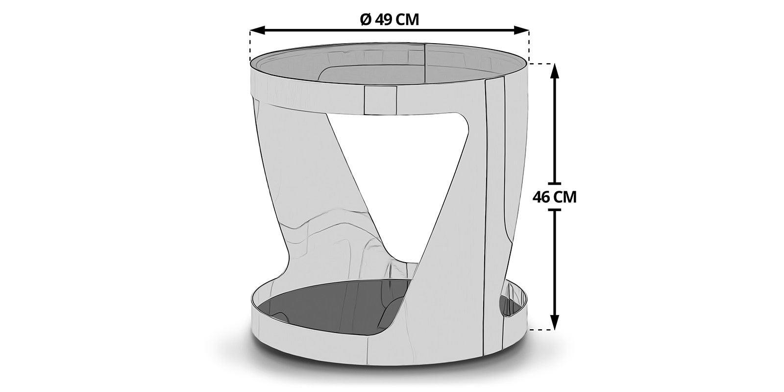 beistelltisch chrom rund silber kairo glastisch wohnzimmer. Black Bedroom Furniture Sets. Home Design Ideas