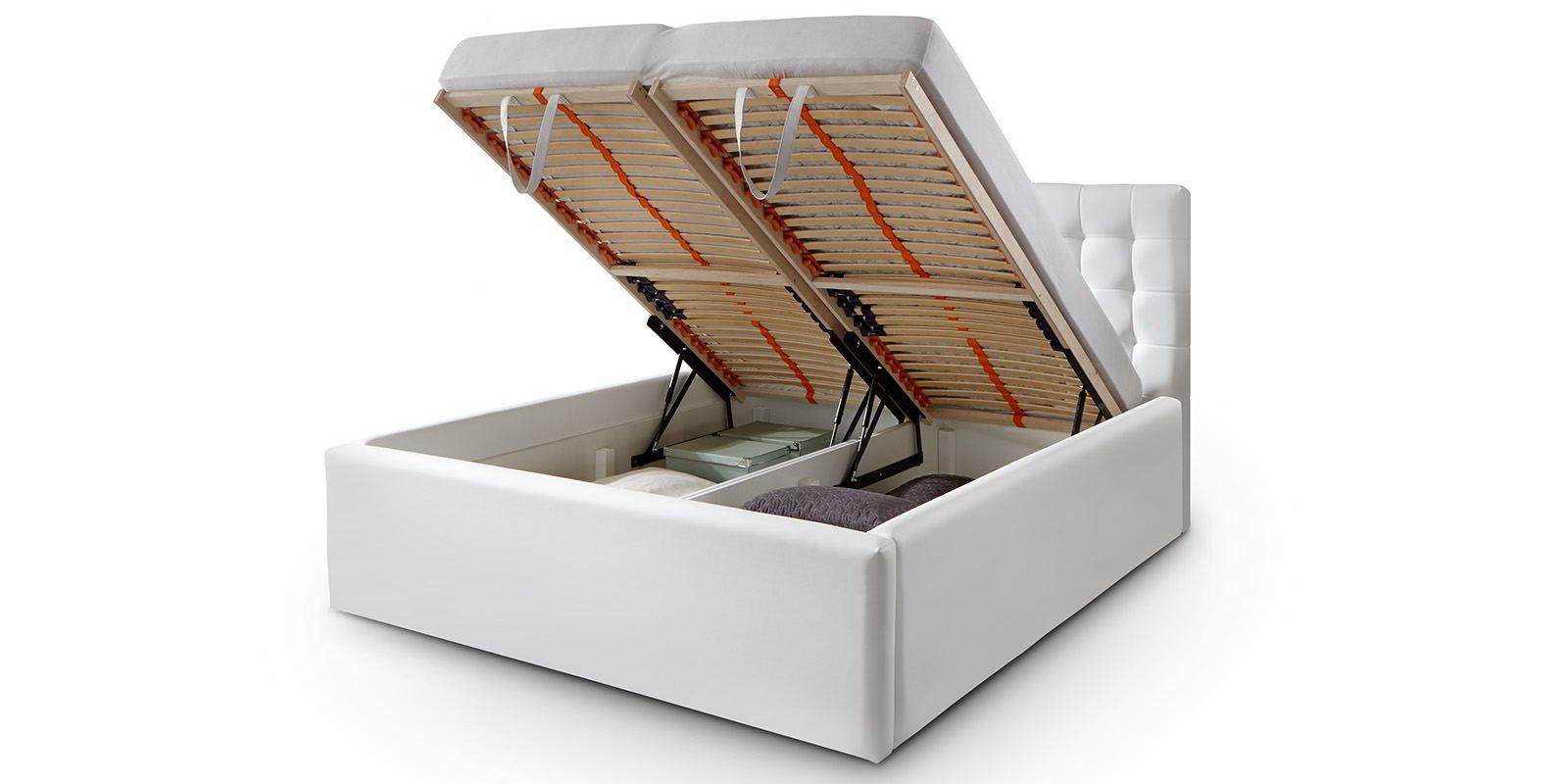 bett mit bettkasten polsterbett lattenrost doppelbett 140. Black Bedroom Furniture Sets. Home Design Ideas