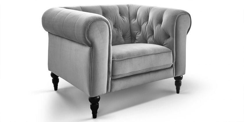 1-Sitzer Chesterfield Sessel Samt Hudson