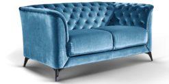 Moebella24 - Sofa Stella - 2-Sitzer Chesterfield Stil in türkis