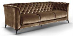 Moebella24 - Sofa Stella - 3-Sitzer Chesterfield Stil in braun
