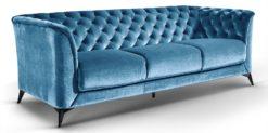 Moebella24 - Sofa Stella - 3-Sitzer Chesterfield Stil in türkis