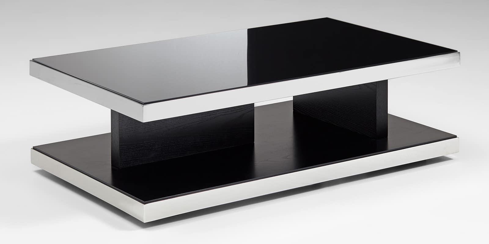 couchtisch schwarz glas chrom echtholzfurnier glasgow 1. Black Bedroom Furniture Sets. Home Design Ideas