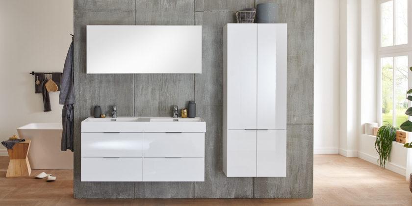 Bad Set Mit 2 Waschbecken 120 Cm Vormontiert Weiß Wales Moebella24
