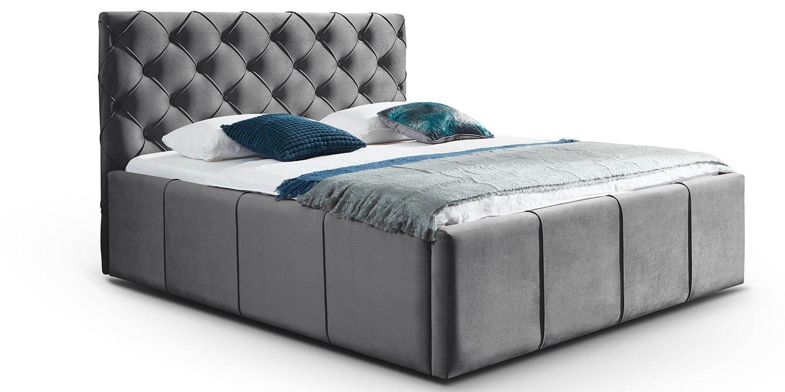 Bett mit Bettkasten › XXL-Stauraum in Samtstoff | Moebella24