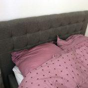 Bett mit Bettkasten Jimmy Webstoff photo review