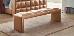 Moebella24 - Bettbank Magic-Media - Sitzbank - Shiney bronze von der Seite