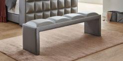 Moebella24 - Bettbank Magic-Media - Sitzbank - Shiney grau silber von der Seite