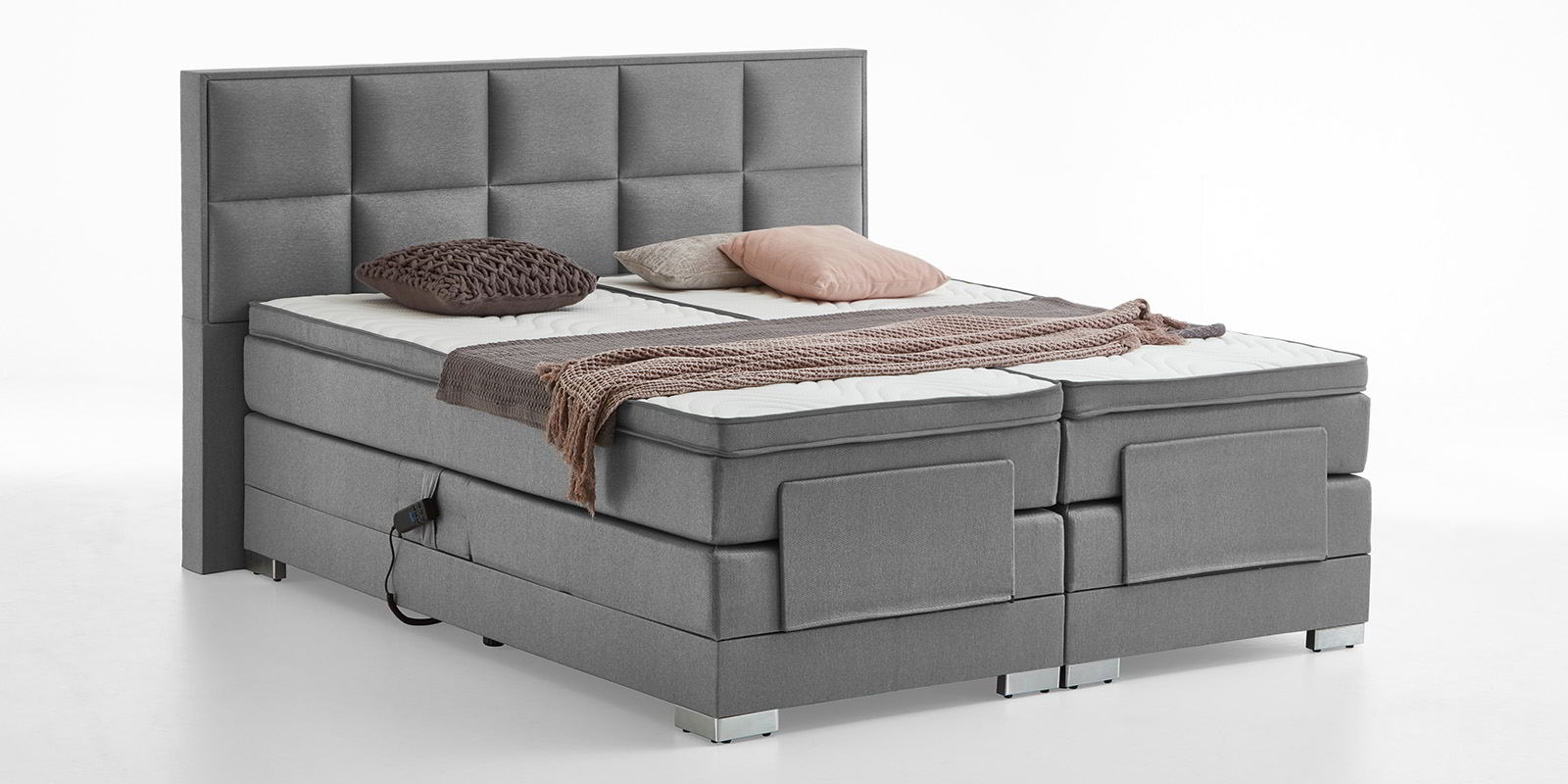 Glamorous Boxspringbett Verstellbar The Best Of Boxspringbett-elektrisch-verstellbar-grau-oxford-8
