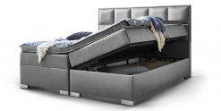 Boxspringbett Arizona Mit Bettkasten Grau