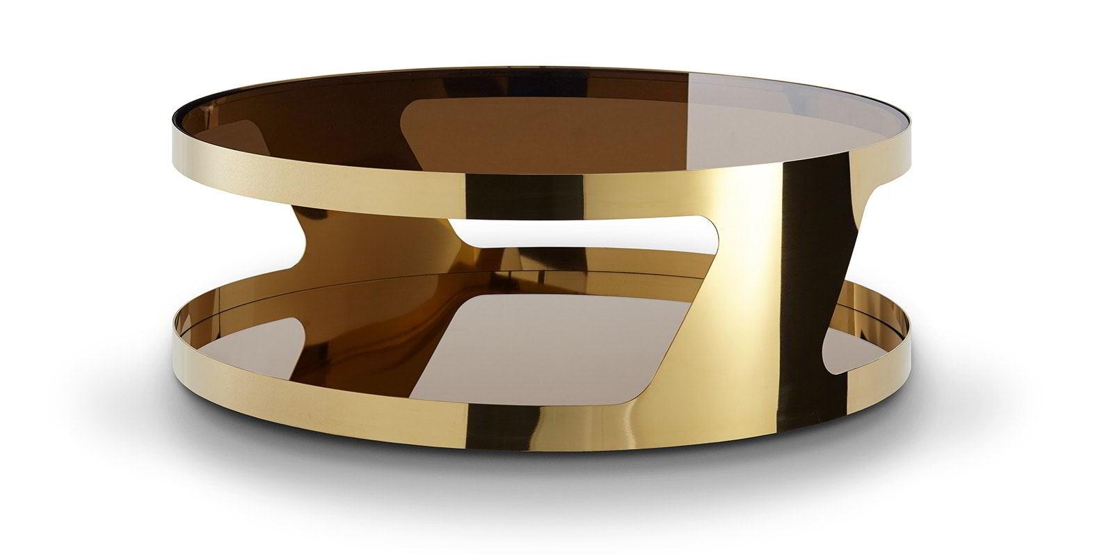 chrom couchtisch kairo gold rund moebella24. Black Bedroom Furniture Sets. Home Design Ideas