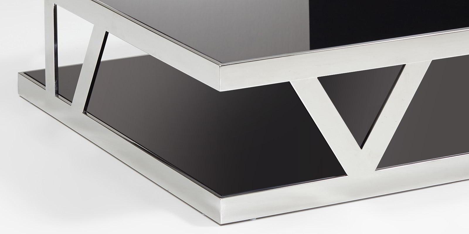 Wohnzimmertisch schwarz glastisch chrom parla moebella24 for Wohnzimmertisch schwarz
