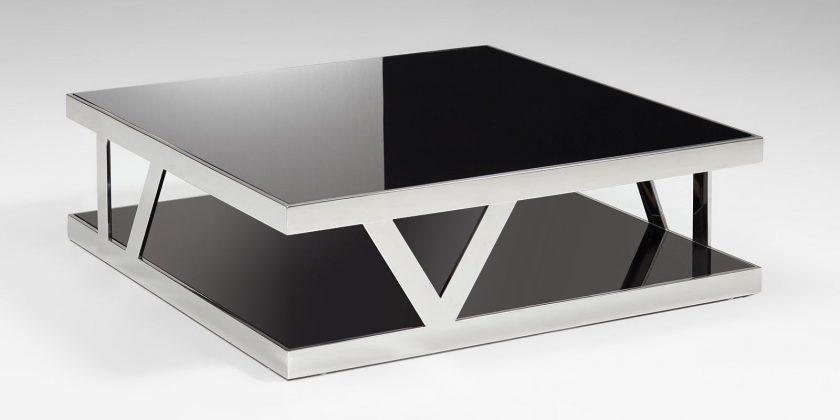 Glastisch schwarzglas  Couchtisch Parla Glastisch mit Schwarzglas quadratisch XXL | Moebella24