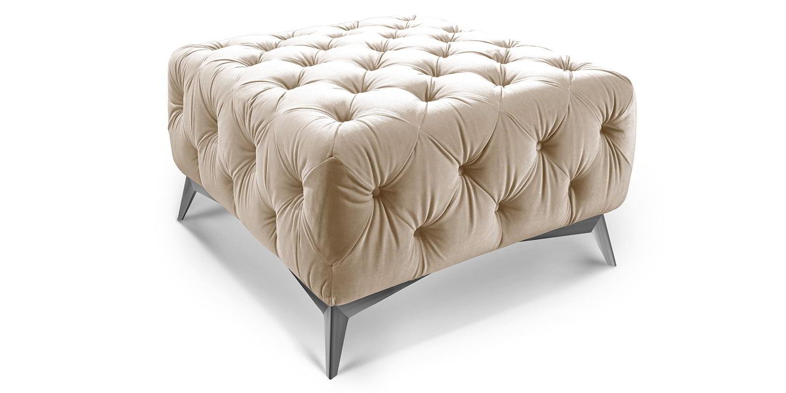 chesterfield hocker emma samt moebella24. Black Bedroom Furniture Sets. Home Design Ideas