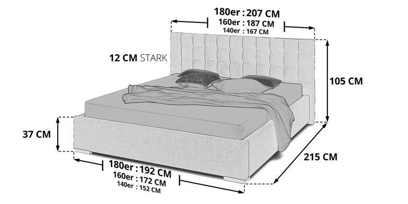 Bett Mit Bettkasten Jimmy Weiß