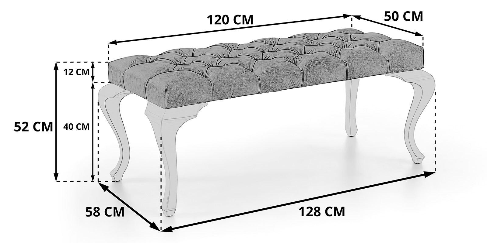 Sitzbank Schlafzimmer Barock Skizze