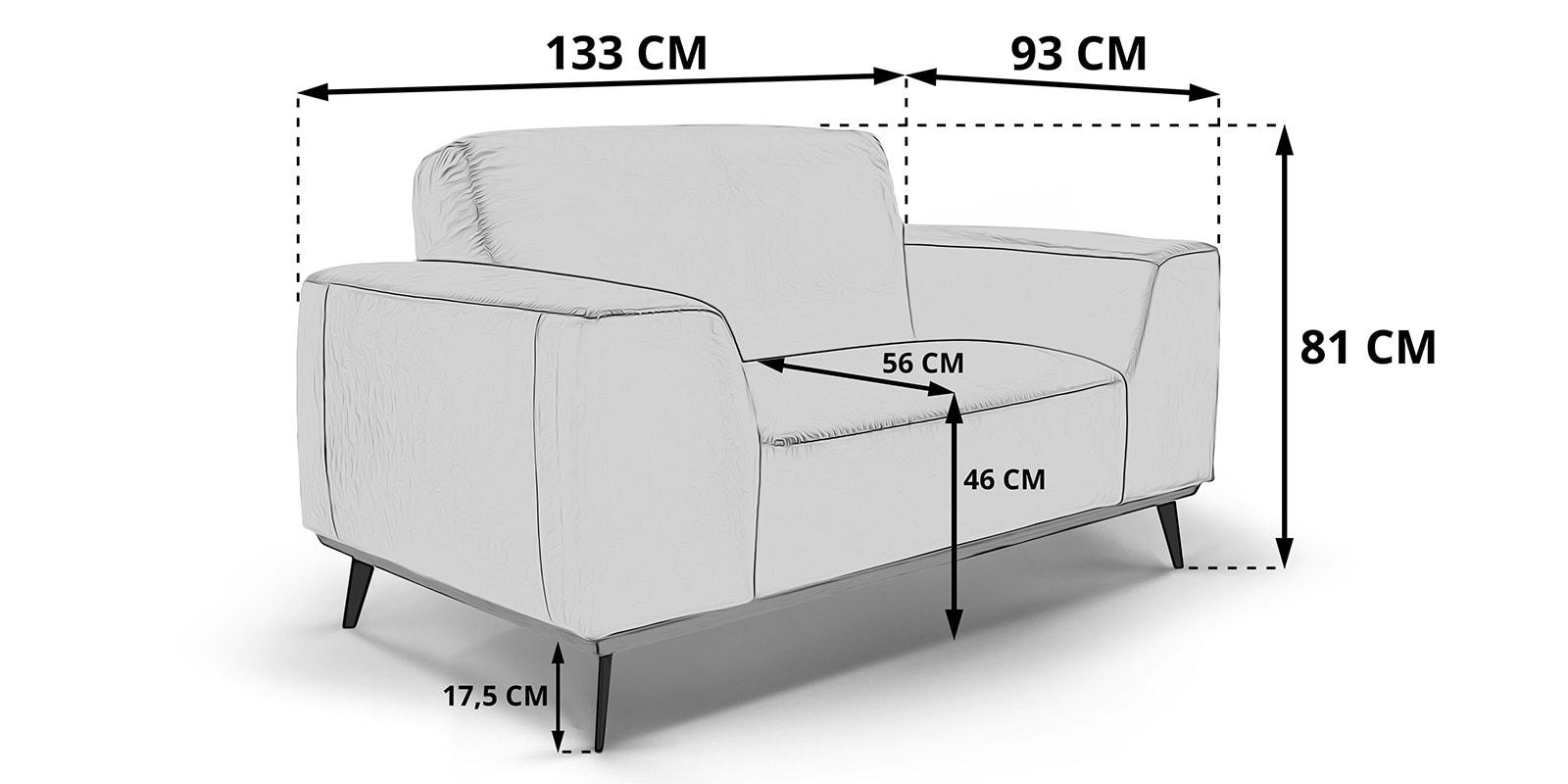 Moebella24 - 1-Sitzer - Sessel - Sofa - Barcelona - Leder - Skizze - Maße - Skandinavisches - Design - Punto - cavallo - Nähte -