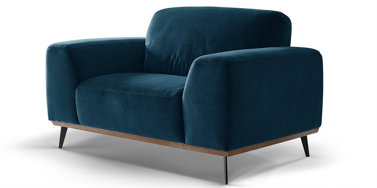 Moebella24 - 1-Sitzer - Sofa - Sessel - Barcelona - Samt - Türkis - Skandinavisches - Design - Punto - cavallo - Nähte - Detailaufnahme