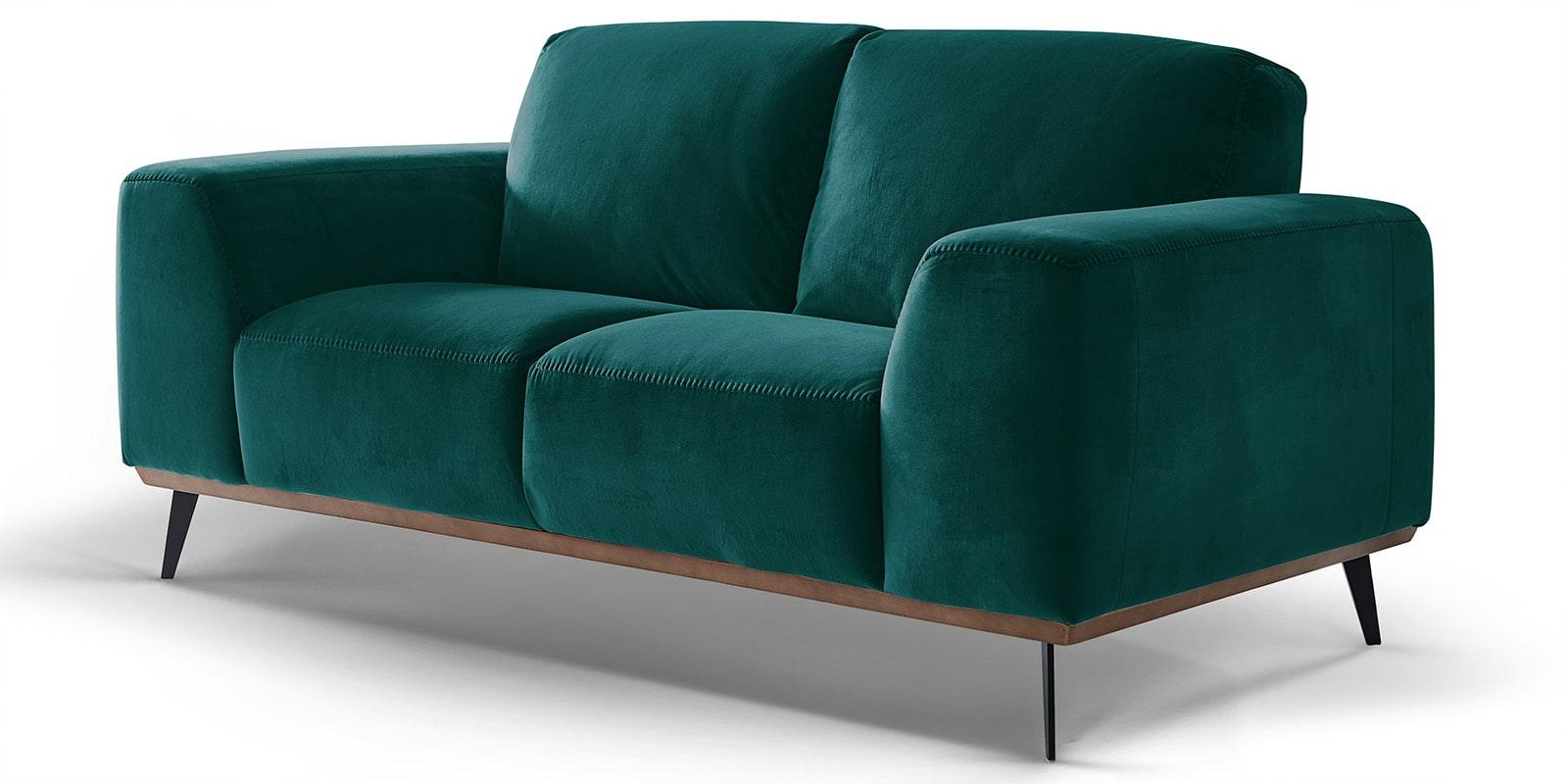 Moebella24 - 2-Sitzer - Sofa - Barcelona - Samt - Petrol - Skandinavisches - Design - Punto - cavallo - Nähte - Detailaufnahme