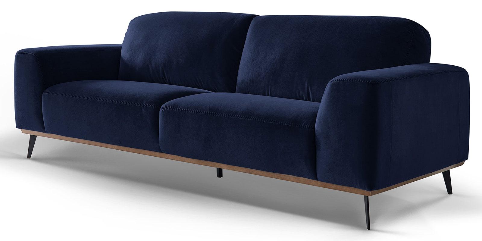 Moebella24 - 3-Sitzer - Sofa - Barcelona - Samt - Dunkelblau - Skandinavisches - Design - Punto - cavallo - Nähte - Detailaufnahme