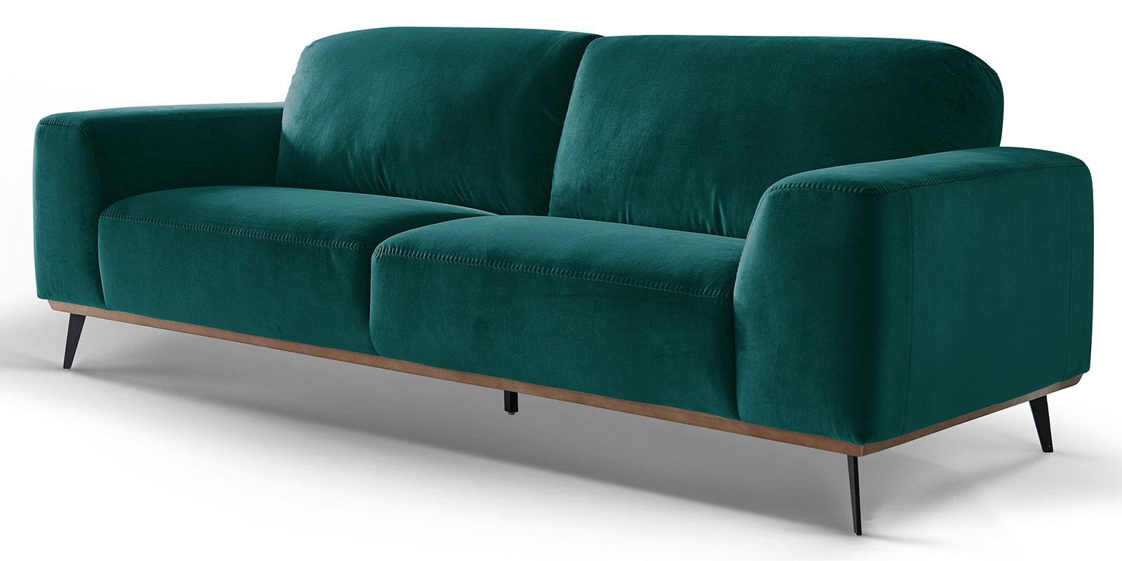 Moebella24 - 3-Sitzer - Sofa - Barcelona - Samt - Petrol - Skandinavisches - Design - Punto - cavallo - Nähte - Detailaufnahme