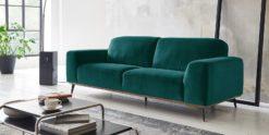 Moebella24 - 3-Sitzer - Sofa - Barcelona - Samt - Petrol - Skandinavisches - Design - Punto - cavallo - Nähte